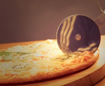 Pizza mit Kiwi-Duft
