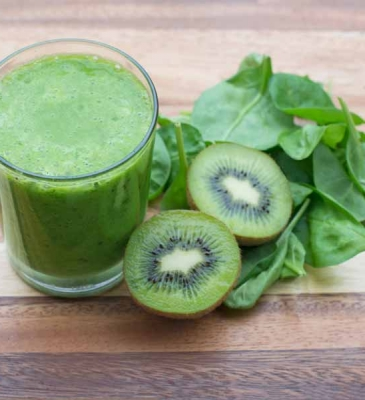 Smoothie Kiwi e spinaci