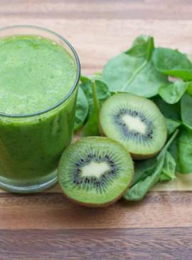 Smoothie Kiwi e spinaci