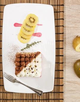 Dessert au kiwi et à la noix de coco