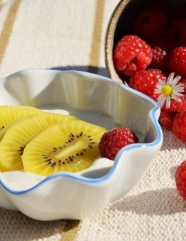 Frozen yogurt al kiwi