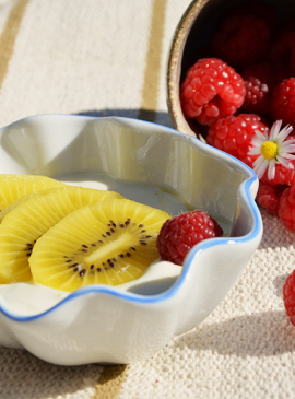 Frozen Yogurt mit Kiwi