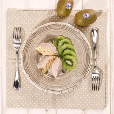 Kiwi and ham mousse