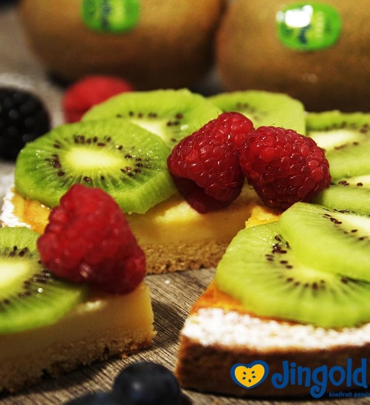 Torta da vovó italiana de kiwi