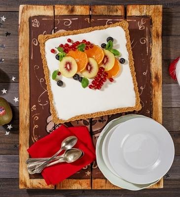 Cheesecake allo yogurt e kiwi rossi